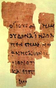 Papiro 52 (p52), Juan 18, 125 d. C.