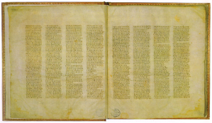 El manuscrito Aleph, 350 d. C.