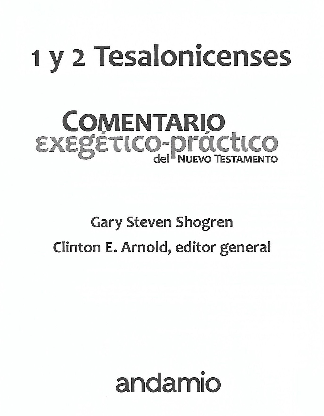 Title page Tesalonicenses